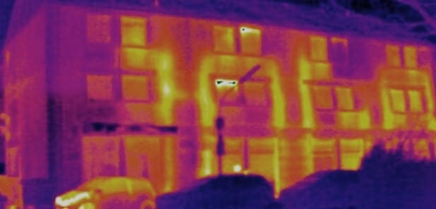 Thermografie eines Gebäudes